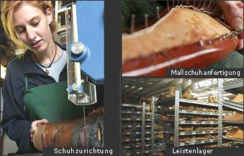 Schuhtechnik - Maßanfertigung, Schuhzurichtung und Leistenlager